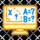 Mathematics Online Lesson Icon