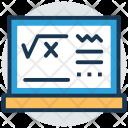 Formula Algebra Mathematics Icon