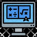 Online Maths Class Maths Computer Icon