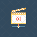 Filmmaking Clapboard Media Icon