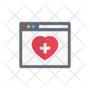 Webpage Browser Medical Icon