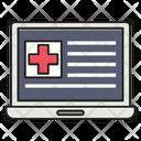 Online Laptop Medical Icon