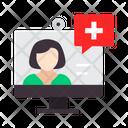 Help Online Medical Service Online Medical Help Icon
