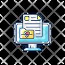 Online Medical History Online Medical Icon