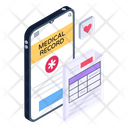 Mobile Medical Record Online Medical Record Medical Report Icon