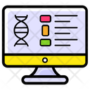 Online Medical Report Biology Genetic Test Icon