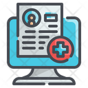 Online Medical Report Medical Report Monitor Icon