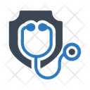 Stethoscope Doctor Shield Icon