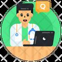 Online Doctor Online Medical Help Online Medical Service Icon