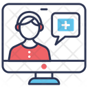 Online Medical Support Icon