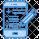 Smartphone Document History Icon
