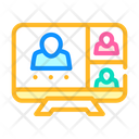 Online Conference Remote Icon