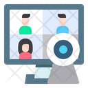 Online Meeting Video Conference Online Education Icon