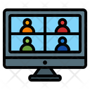 Online Meeting Video Call Video Conference Icon