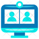 Online Meeting Video Conference Video Call Icon