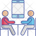Online Meeting Mobile Conference Icon