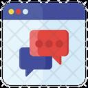 Online Message Online Communication Webchat Icon