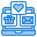 Online Message And Gift Laptop Email Icon