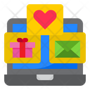 Online Message And Gift Icon