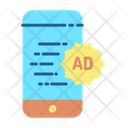 Online Mobile Advertising Icon