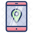 Online Mobile Location Icon