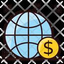 Online Money Online Earnings Global Money Icon