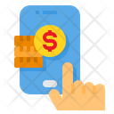 Coins Money Mobile Icon