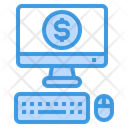 Computer Money Business Icon