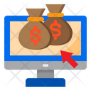 Online Money Bag Cash Icon