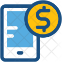Online Money Work Icon