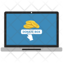 Laptop Donate Box Icon