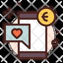 Online Money Donation Online Money Euro Money Icon