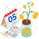 Online Money Growth Icon