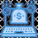 Laptop Money Money Bag Icon