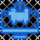Computer Piggy Bank Saving Icon