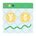 Online Money Transfer Forex Coin Icon