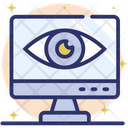 Online Monitoring Cyber Monitoring Remote Monitoring Icon