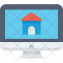 Online Mortgage Online Property Purchasing Online Property Selection Icon