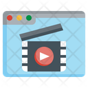 Online Movie Live Streaming Music And Multimedia Icon