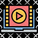 Online Movie Online Video Online Film Icon