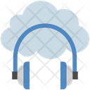 Cloud Computing Headphone Icon