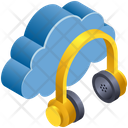 Cloud Computing Headphone Icon