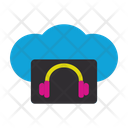 Online Music Earphones Connection Icon