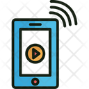 Online Music Video Audio Icon
