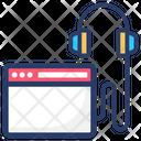 Online Music Listening Icon