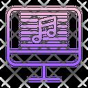 Online Music Script Icon