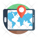 Online Navigation Mobile Location Mobile Direction Icon
