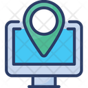 Online Navigation Location Map Icon