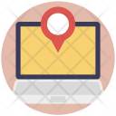 Online Navigation Map Icon