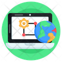 Global Network Online Connection Digital Connection Icon